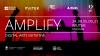 Flyer del programa Amplify, mujeres en las artes digitales, en Mutek Montral 2021