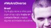 Banner We Are Diverse: Brazil. Tag rugby para realizar actividades educativas con niños