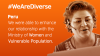 Banner We Are Diverse: Enhance our relationship with the Min. of Women and Vulnerable Population