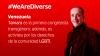 Banner We Are Diverse: Venezuela. Día Internacional contra la Homofobia y Transfobia