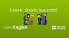 Banner Learn, share, succed del programa LearnEnglish