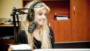 DJ Goldie Rocks in the studio