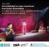 Poster Taller Accesibilidad en artes escénicas: Funciones distendidas